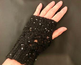 Fingerless Gloves with Sparkle