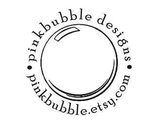 Custom Rubber Stamp  soap bubble theme