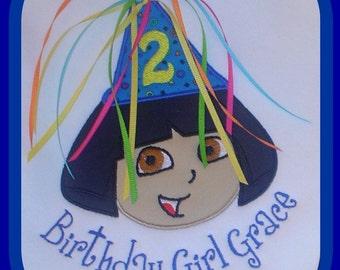 Custom Dora the Explorer Birthday Shirt