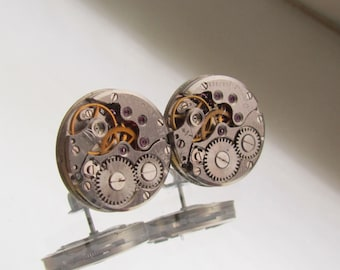 Steampunk Stud Earrings Watch Movements Steampunk jewelry Watch  Studs Posts birthday gift Gift for Him Her Birthday gift idea mens