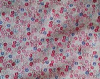 Standard Crib Toddler Fitted Sheet~ Peace & Love-Purple, Pink, and White