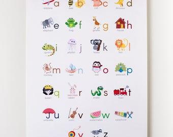 "Alphabet 12""x18"" Print (English)"