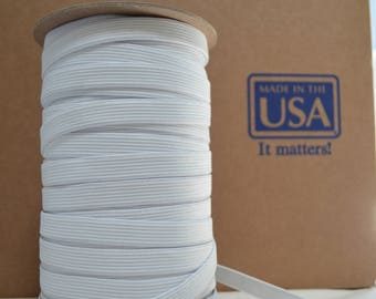 100yd spool of 1/2 knit elastic made in usa