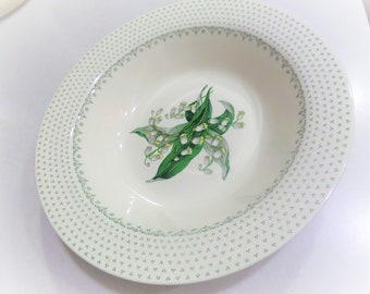 Lily of The Valley Royal Waverly China Serving Bowl Midcentury Serving Bowl May Flower Lily of the Valley