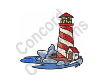 Lighthouse Machine Embroidery Design