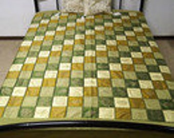 Indian bedspread Bedspread Silk Blanket Gold