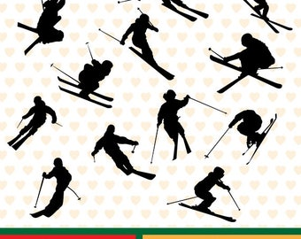 Skiing sale, eps, svg, png and jpg files high resolution CL-SP-072