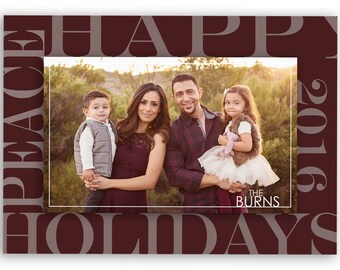 Christmas Card Template, Photo Christmas card - Holiday card template - Holiday photo card - Christmas Card - For Photographers