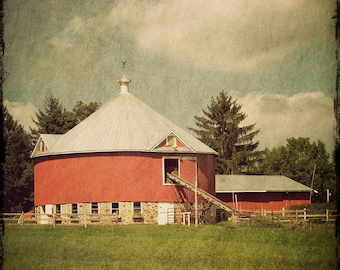 Round Barn, Fine Art Photograph, Large Wall Art Print, Home Decor, Barn Art, Midwest Decor, Country Wall Art, Country Decor, Farmhouse decor