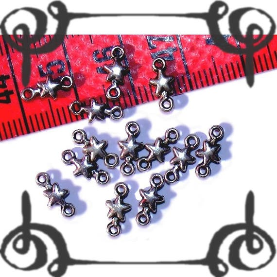 Connectors 10x5mm obsolete money 20 x star beads