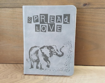 Spread Love Elephant Journal (small gray)