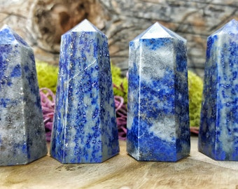 Lapis Lazuli Crystal Healing Point / Grid Energy Stones  -  082