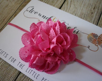 Eyelet flower headband - you pick color!