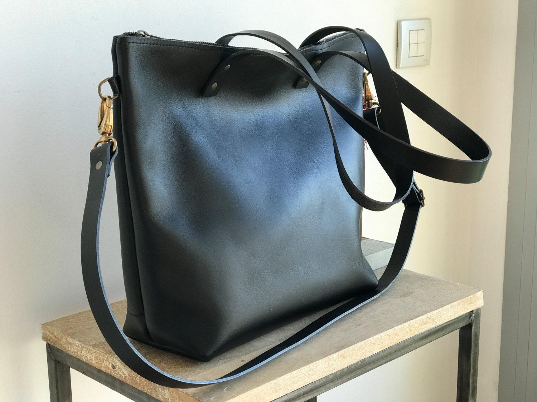 9563d312d5 Large Black Leather Shoulder Bag