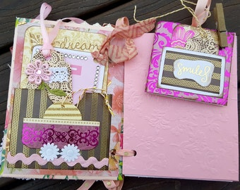 Shabby Junk Journal, Mixed Media Art Journal, Collage Book, Junk Journal Book, Shabby Writing Bridal Book, Name Journal Emma