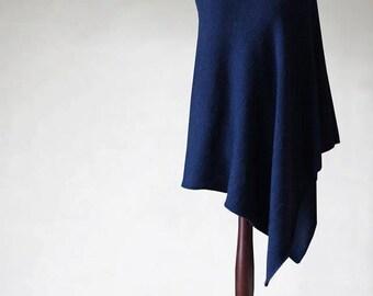 Alpaca poncho/women's cape/women's sweater/knit poncho/wool poncho/women's coat/wool cape/women poncho/knit cape/navy poncho/alpaca sweater