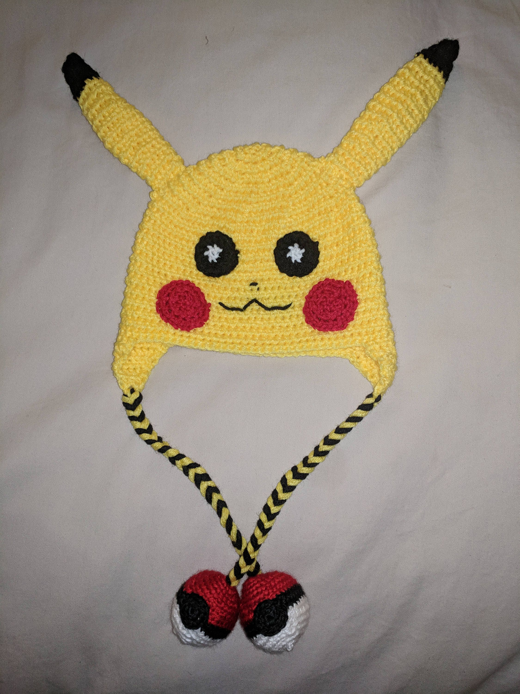 Pikachu Crocheted Hat