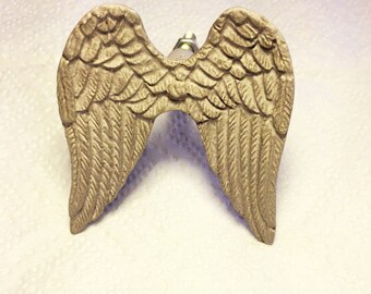 Rustic Angel Wings Metal Drawer, Cabinet, Pull, Knob