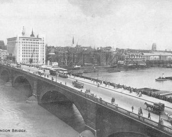 Vintage Postcard of the London Bridge Unused