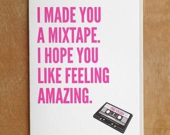 Mix Tape Letterpress Card