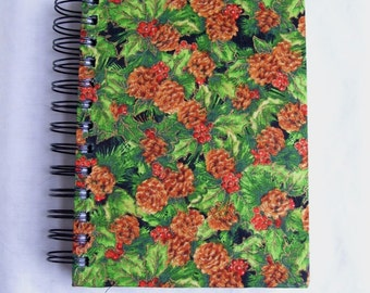 Pinecones Fabric Notebook