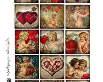 Vintage Valentine Cupids Printable Digital Download