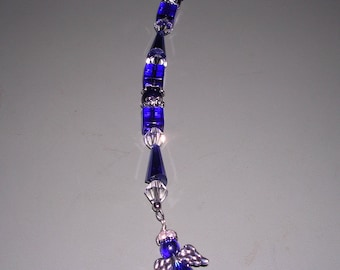 Cobalt Blue Angel Suncatcher