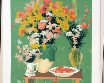 Lithograph after the 'Bunches of flowers' work of Vignoles