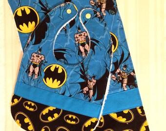 BATMAN Baby Bib and Burp Cloth Set - Cute Shower Gift - BATMAN Bib Set