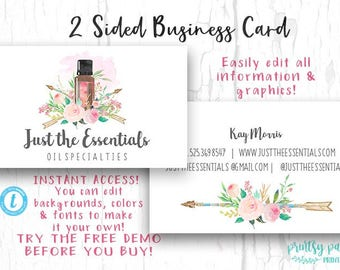 Diy business card etsy diy business card just the essentials business card watercolor card template diy colourmoves