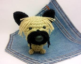 Amigurumi Cairn Terrier,crochet Cairn Terrier, Stuffed Dog toy. Cute Cairn Terrier plushie. Crochet dog.