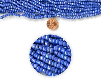 "Blue Moon Strung Beads 14"" Glass Seed Bead Hank Blue AB"