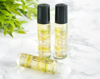 Pear Champagne Perfume Oil - Anniversary Gifts For Women - Roll On Perfume - Stocking Stuffer - Pear Perfume For Her - Champagne Fragrance