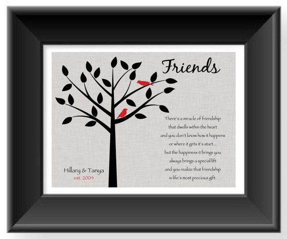 7 Personalized Birthday Presents For Your Best Friend: Items Similar To Best Friend Gift