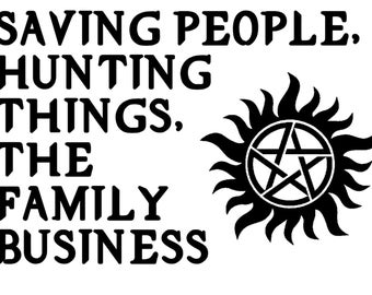 Supernatural: Saving People, Hunting Things, The Family Business w/emblem