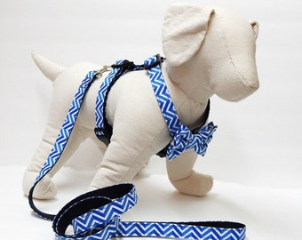 Dog Harness, Leash and Bow Tie Combo - Pick Any Fabric In Shopby Pacific Pooch