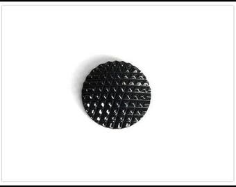 Extra Large Black Plastic 2-Hole Button - One Vintage Button   (#114)