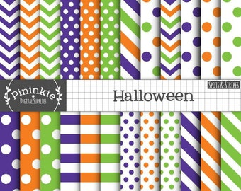 Halloween Scrapbook Paper, Digital Paper, Commercial Use, Digital Background, Instant Download