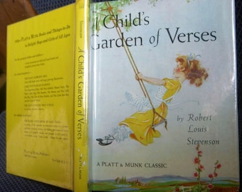 A Child's Garden of Verses, Robert Louis Stevenson, Hardback Dust Jacket, Platt & Munk, Eulalie Illustrations, 1961 Childrens Poems