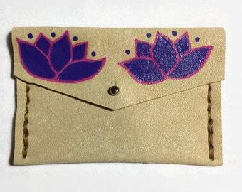 Flower Coin Purse - Purple - Flower Coin - Mexican Flower