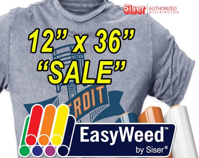 "12""x 36"" / Siser EasyWeed HTV -10% OFF SALE"
