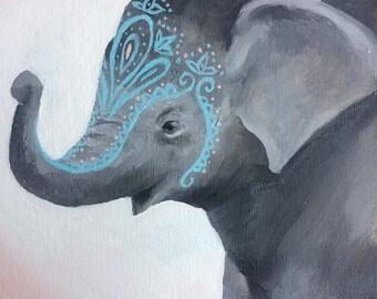 Bohemian Elephant Calf
