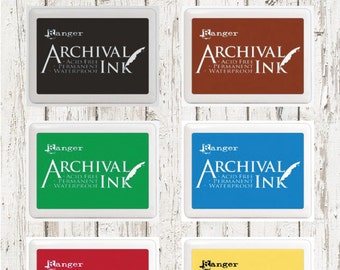 RANGER ARCHIVAL INK Pad 4.25x6.25 in 5 colors