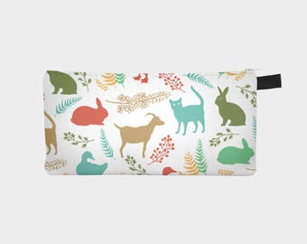 Multicolour animal silhouette | pencil case