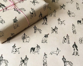 Canine Party Gift Wrap