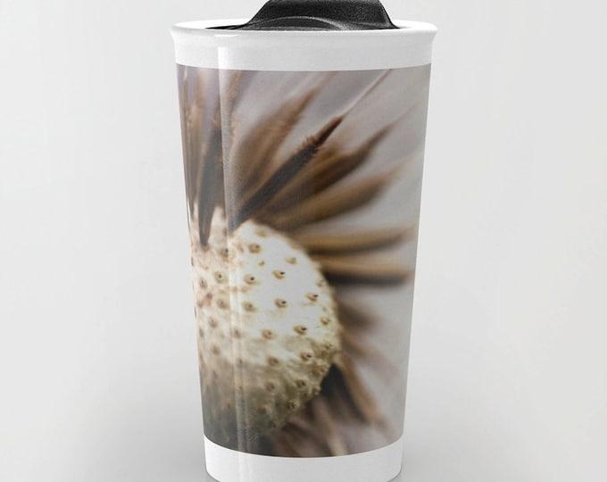 Dandelion Travel Mug - Nature Photo Travel Mug - Coffee Travel Mug - Hot or Cold Travel Mug - 12oz Travel Mug - Made to Order
