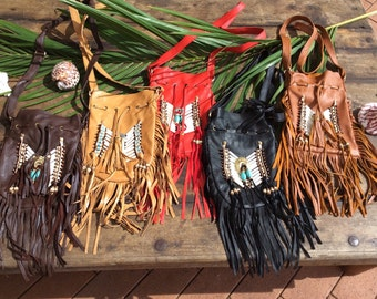 5 Leather navajo bags wholesale lot
