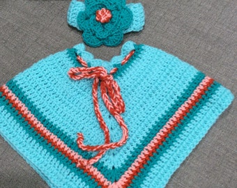 Girl's, handmade, one of a kind, Spring poncho