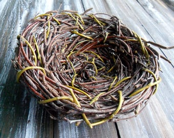 Hand Made Willow Birch Branch Birds Nests Recycled Eco friendly nests Primitive nest Gift supplies Branches twigs Spring Summer decoration