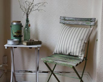 Original Vintage French Folding Cafe or Garden Chair